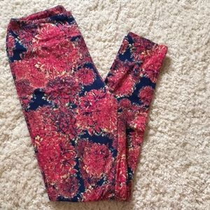Lularoe Flioral Leggings